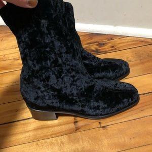 Cole Haan Stretch Velvet Booties